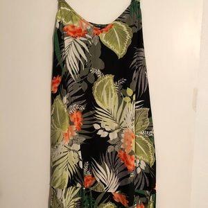 tropical express dress NWT M